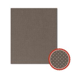 Bienenwachstuch Taupe mit weißen Punkten (3 Größen)