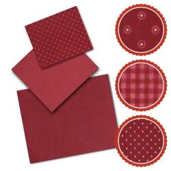 Bienenwachstuch Set Rot (3 Muster)